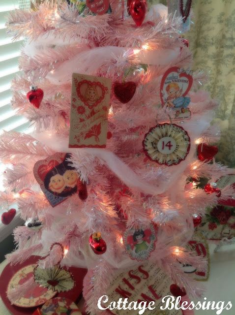 Cottage Blessings A Vintage Valentine Tree Valentines