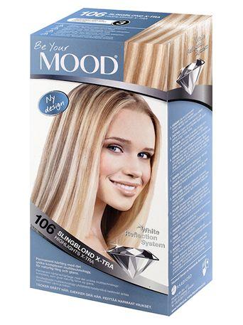 » N 106 SLINGBLOND X-TRA Blonderingar med det unika WHITE REFLECTION SYSTEM som ger håret en skimrande blond effekt med ett stänk av silver. Innehåller pigment som motverkar gula reflexer.  Bleker upp till 7 nyanser. Speciellt anpassat för mörkt hår. Ger dig möjlighet att bestämma hur ljusa dina slingor skall bli genom att variera verkningstiden mellan 15-60 minuter.