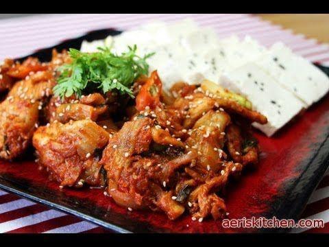 Korean Food: Tofu Kimchi (두부 김치) - YouTube