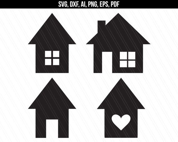 House Svg Home Svg House Vector Clipart House Shapes Etsy In 2021 House Silhouette Screen Printing House Vector