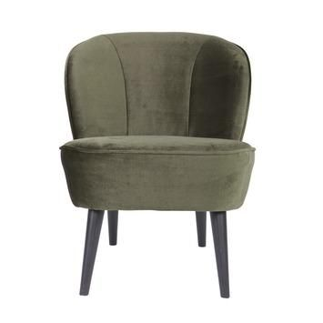 WOOOD fauteuil Sara fluweel warmgroen kopen? Verfraai je huis & tuin met Fauteuils van KARWEI