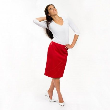 Acacia-Rosea Design Skirt - Protection against harmful Electromagnetic Waves & Mobile ------- #OnyxPro ------- with EM Pro Shield function. Fashionable soft-shell skirt to protect women's body from harmful high frequency #electromagnetic #waves and to make professional and elegant look with its slim-fit cut. ------- #Shielding #strength: 60.5 dB @ 1 GHz (20% pure #silver content no nano silver) ------- 262 €