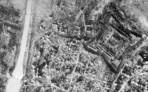 Jülich after bombarding in 1944