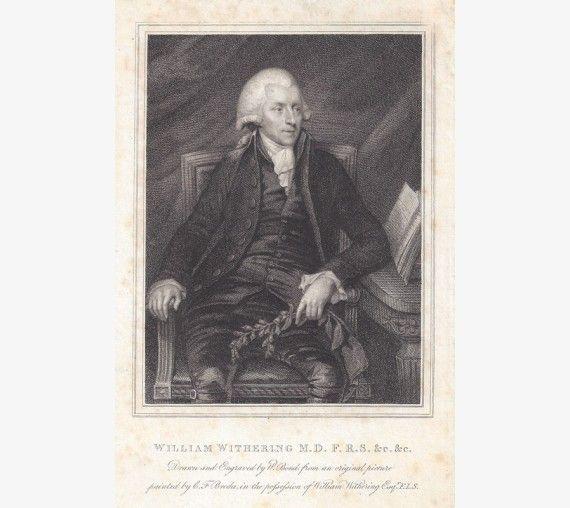 William Withering portrait engraving doctor botanist digitalis
