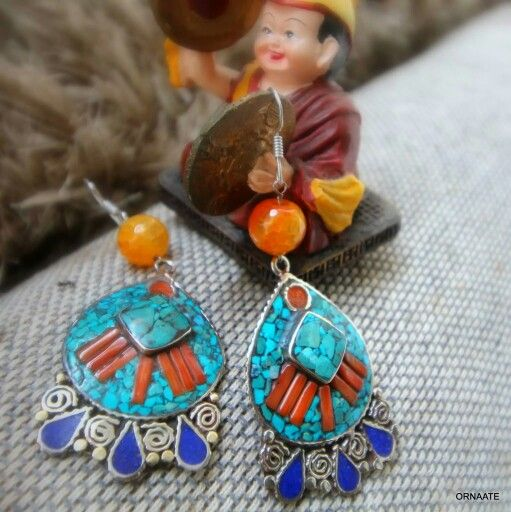 ₹ 750/- Find us @ www.facebook.com/ornaate.. Tibetan earring