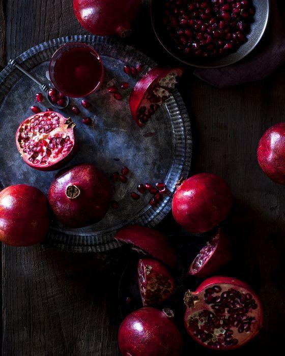 whitney ott, whitney ott photography, photography, food, food photography, pomegranates, still life, fruit