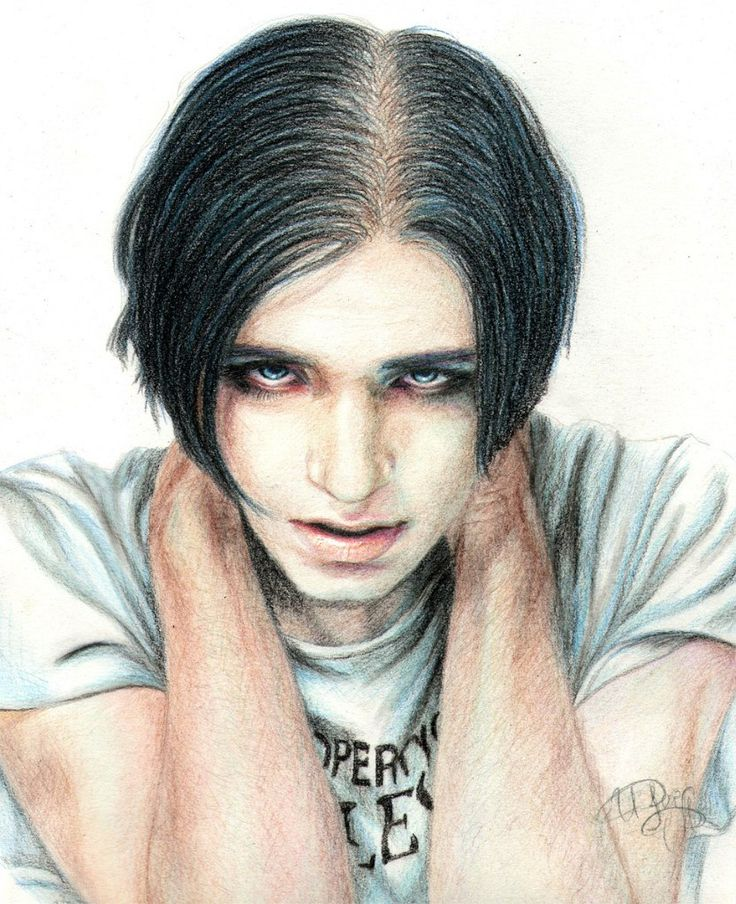Being so honest in my writing is cathartic © Brian Molko (833×1024) #Placebo #BrianMolko #art #drawing