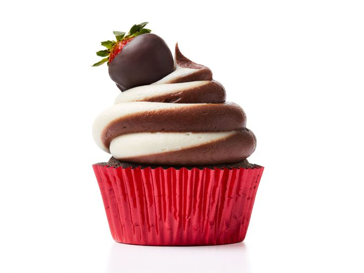 Chocolate-Strawberry Cupcakes recipe from Food Network Kitchen via Food Network