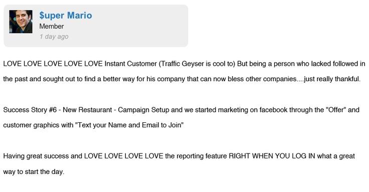 Instant Customer Revolution Testimonials #5