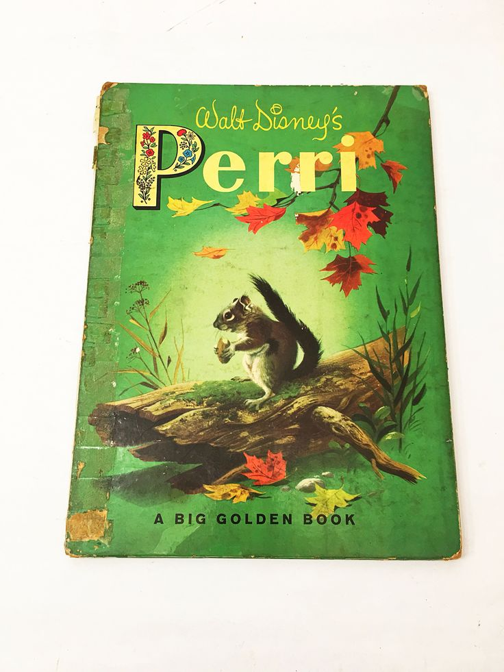 Walt Disney's Perri book. First Edition. Big Little Golden Book. Vintage book circa 1957. POOR CONDITION. Vintage children's book.