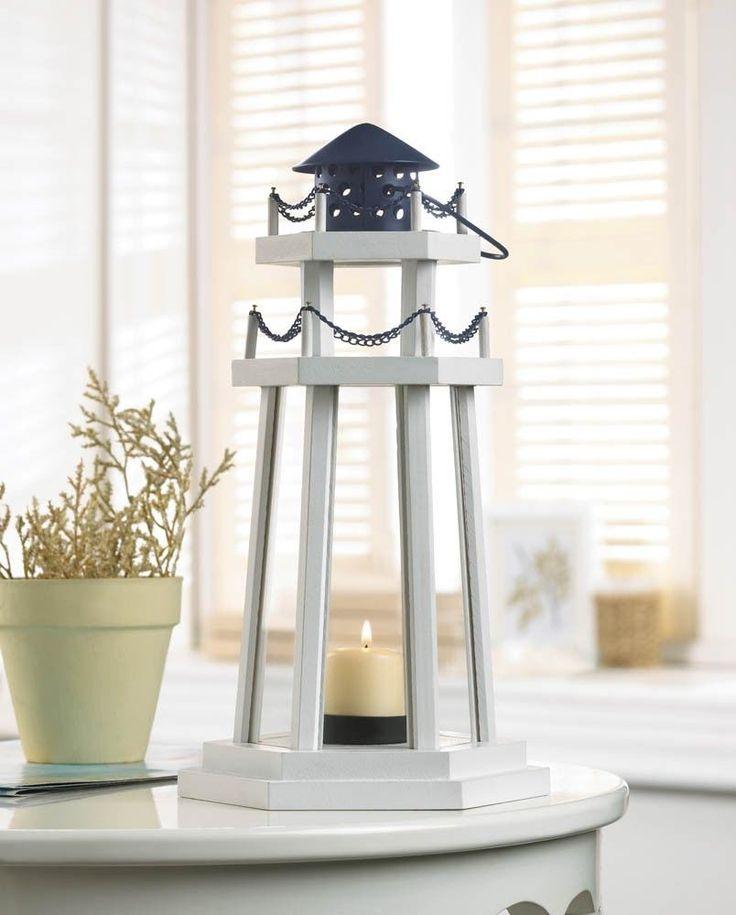 15 lighthouse white candle lantern wood candleholder wedding centerpieces unbranded