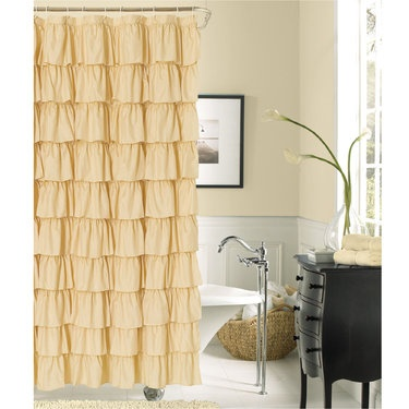 17 Best Images About Ellie 39 S Bathroom On Pinterest World Market Ruffled Shower Curtains And