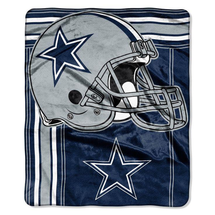 Dallas Cowboys Blanket - 50x60 Royal Plush Raschel Throw - Touchback Designÿ