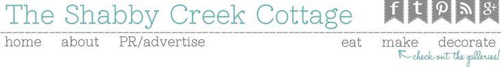 The Shabby Creek Cottage | Decorating | Craft Ideas | DIY: make