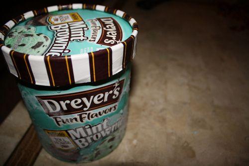 mint brownie ice cream, my fav