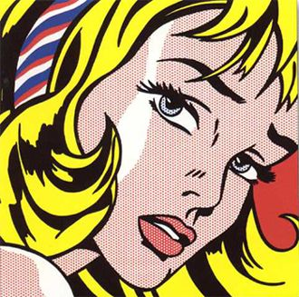 This is a picture of the crying girl, famous pop art painting by Roy Lichtenstein. This picture in a way represents the era of the 60s because of the worry in her eyes. Pop Art was a way of finding trauma, such as the Civil Rights movement, and putting it into a painting.