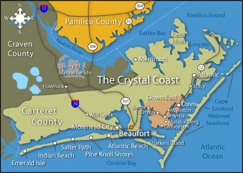 Beaufort, NC Real Estate Crystal Coast Homes: Beaufort, Atlantic Beach & Morehead City, North Carolina Homes and Land