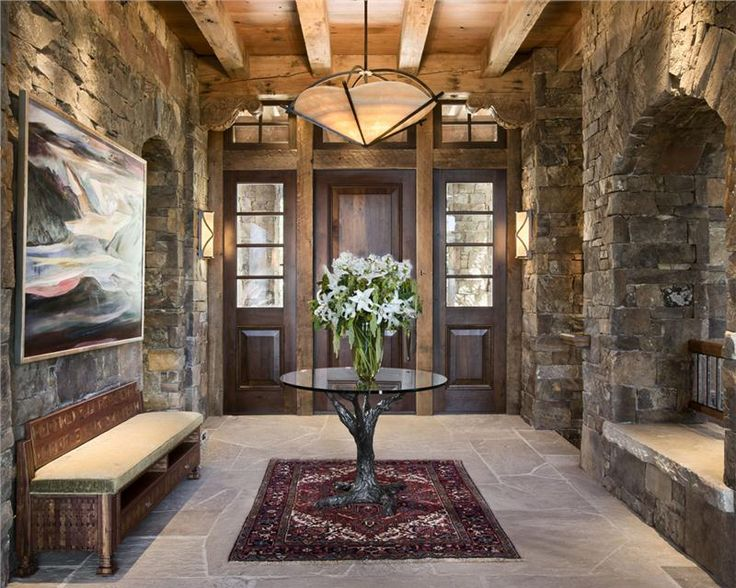 Country Home Foyer Decorating Ideas : Cozy country rustic foyer by jerry locati decor