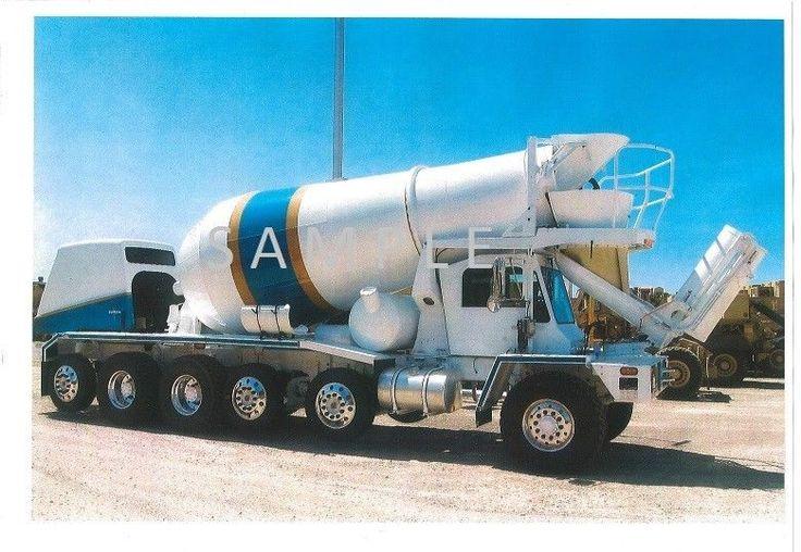 Oshkosh Front Discharge Mixer Ready Mix Trucks Pinterest