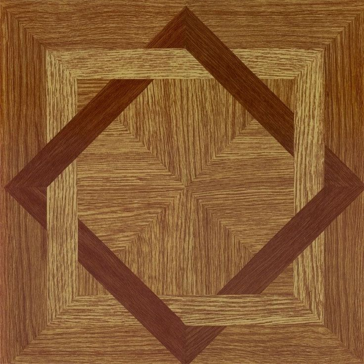 ACHIM Tivoli Wood Daimond 12x12 Self Adhesive Floor Tile - 45 Tiles/45 sq Ft.