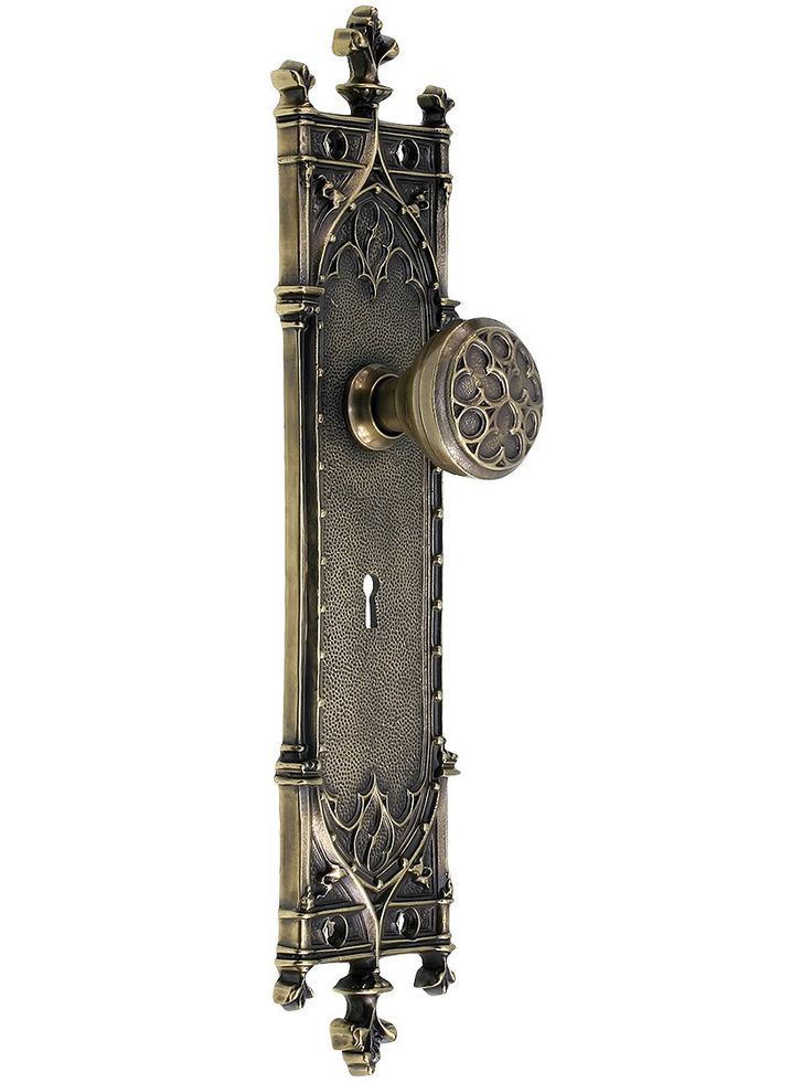 Gothic Revival Mortise Lock Set With Trefoil Knobs $649.90