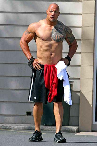 The Rock or Dwayne Johnson body...