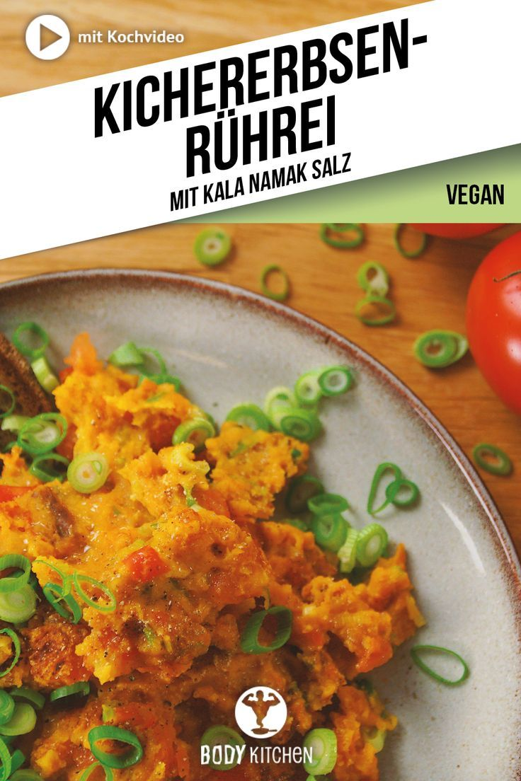 Veganes Ruhrei Kichererbsen Scramble Rezept Rezepte Lebensmittel Essen Und Kichererbsen