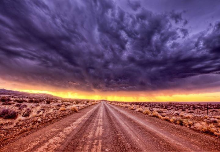 Sunset over the Karoo