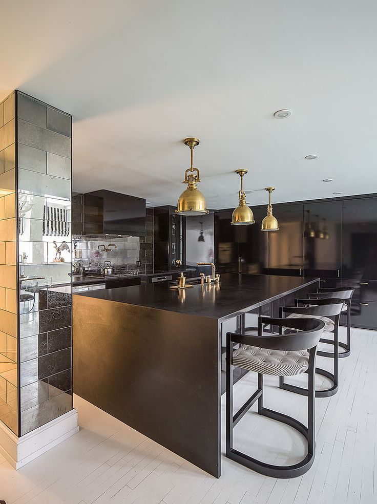 Kitchen in a Bond Street apartment in NYC designed by James Dixon Architect and Carolina George
