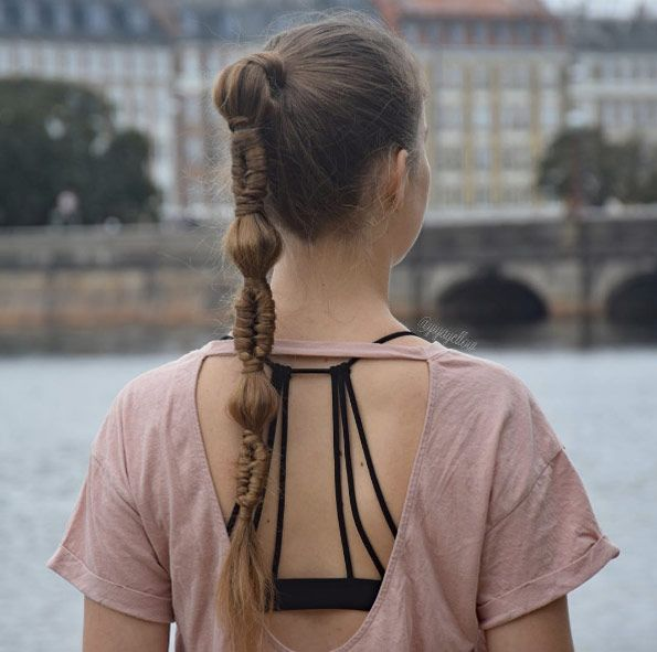 Bubble and infinity braided ponytail by Clarice