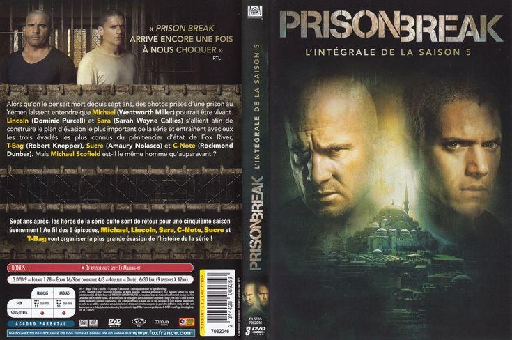 jaquette dvd prison break saison 5 series pinterest. Black Bedroom Furniture Sets. Home Design Ideas