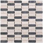 Mozaika Dunin Woodstone Grey Block Mix 48 30.5x30.5 cm