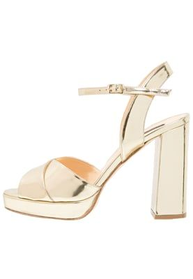 Højhælede sandaletter / Højhælede sandaler - specchio platino