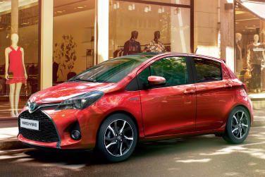 Red Toyota Yaris Hybrid