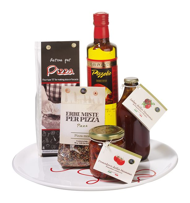 Making your own Pizza will be super easy with this gift package - Make your Christmas Sparkle with Oil & Vinegar
