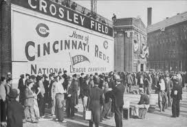 Crosley Field  Cincinnati, Ohio  cincinnati reds, red legs, red stockings