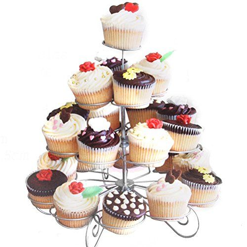 UEETEK 4Tier Cupcake Stand Hold 23 Cupcakes Chrismas Party Wedding Display Holder Metal Dessert Stand >>> Be sure to check out this awesome product.