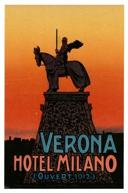 Artist Unknown, Verona (Luggage Label) 1930 ca.