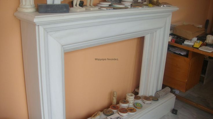 Fireplaces Greek Dionyssos marble. Contact: sales@marmara.gr