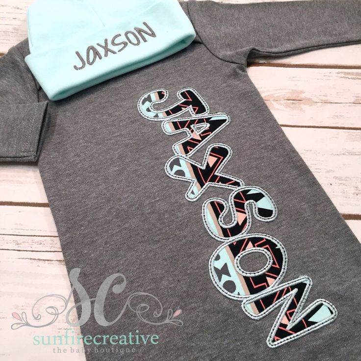 Baby Boy Coming Home Outfit Newborn Sleeper Baby Boy