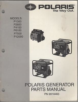 Manuals and Guides 171208: Polaris Portable Generator Parts Manual -> BUY IT NOW ONLY: $37.04 on eBay!