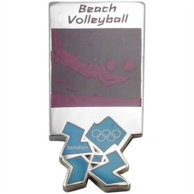 London 2012 Beach Volleyball Olympic Pin