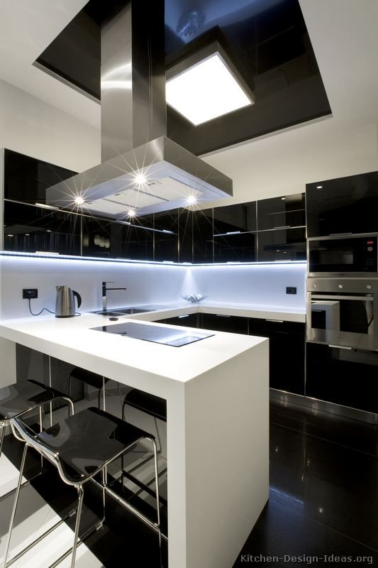 Modern Black Kitchen Cabinets 69 best black and white kitchens images on pinterest | kitchen