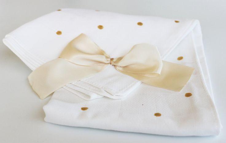 Gold dots burp cloths, cotton burp cloths, big/large cotton diaper, child…
