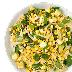 Grilled Corn Poblano Salad with Chipotle Vinaigrette: Side Dishes, Yummy Food, Vinaigrette Recipe, Bbq Side, Poblano Salad, Corn Poblano, Corn Recipe, Chipotle Vinaigrette, Grilled Corn