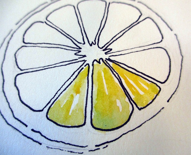 How to draw and paint a lemon by Jane LaFazio