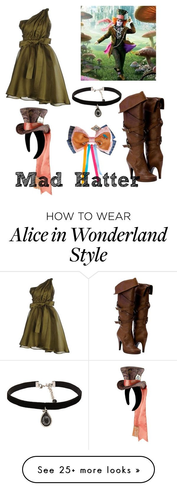 """Mad Hatter inspired"" by holly-hills on Polyvore featuring MSGM, Disney and…"