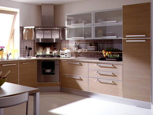 Simple Design L Shape Laminate Kitchen Cabinet For Sale