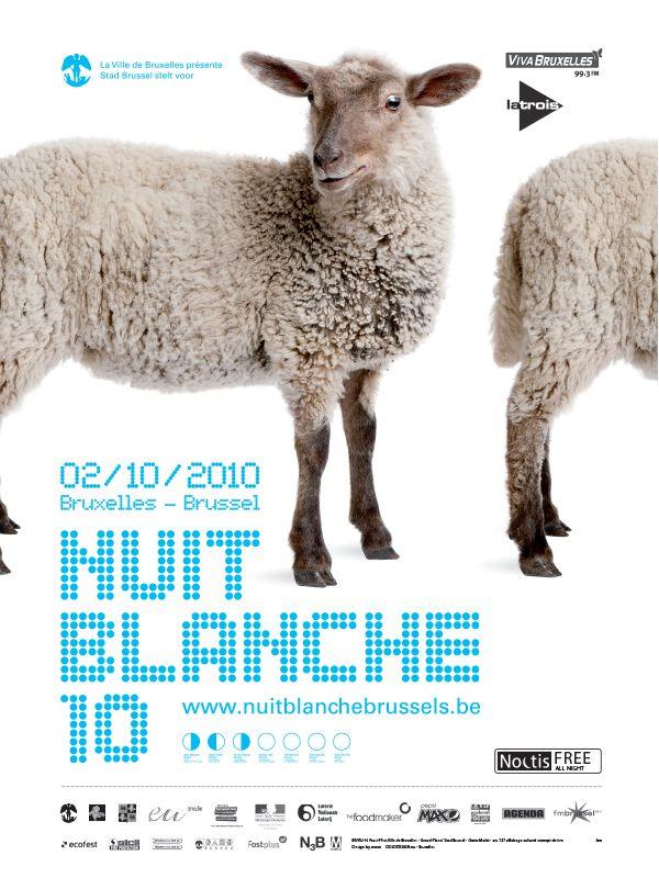 """Cartel """"Nuit Blanche"""" Bruselas"""