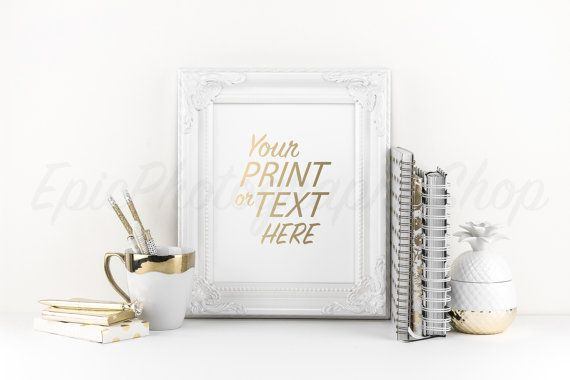 Print Background / Blank Frame / Styled Stock Photography / Product Photography / Staged Photography / Product Background / Gold / OR001
